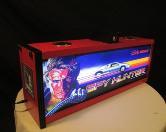 "Musical Arcade Machine Lamp * ""Spy Hunter "" Motion Activated Lamp With Automatic Light with Sound *  OOAK"