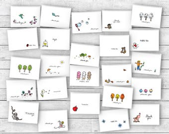 All Occasion Thank You Cards Variety Pack - 24 Cards & Envelopes