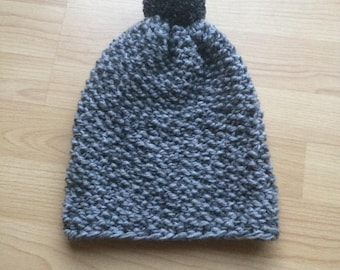 Charcoal Grey Knitted Hat