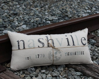 Hometown Nashville, TN Pillow