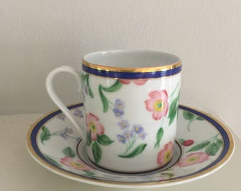 An exquisite Tiffany & Co demitasse cup in the American Garden pattern