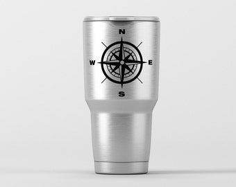 Compass Rose / Yeti Decal / Vinyl Decal / Yeti Tumbler Decal / Yeti Cup Decal / RTIC / ***Tumbler Available***