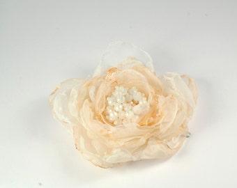 ivory pearl hair clip beige flower hair clip bridal hair clasp wedding hair accessories  ivory hair flower bridal flower hair clip for bride