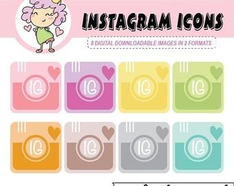 50%off Instagram Icon, IG Clipart, Camera Clip Art, Digital Clipart, Instant Download, Instagram Clipart, Social Media Icon, Social Media cl