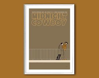 Movie poster Midnight Cowboy various sizes retro print