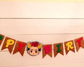 Frida kahlo birthday banner