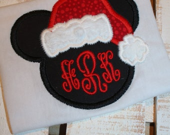 Applique Mouse Girls T Shirt Perfect for Disney Vacation or Christmas