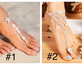Beach Wedding Barefoot Sandals 1 pair One Size