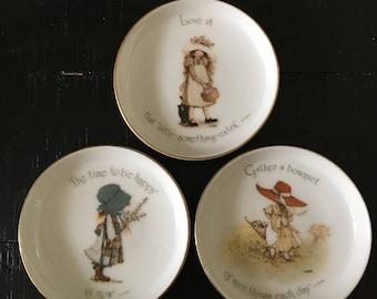 Holly Hobbie Porcelain Saucers