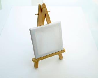 Mini Easel and Canvas