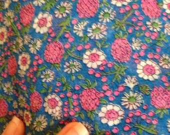 Vintage Pink Pineapples Cotton Quilting Fabric Material