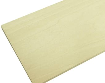 Basswood Wood Panels Extra Wide (250 x 500mm)