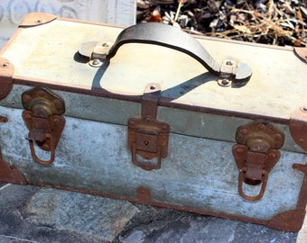 Awesome Vintage Tackle Tool Box - Handmade Industrial Tool box