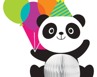 PANDA-MONIUM CENTERPIECE Panda Bear Birthday Party Supplies Tableware Décor Decoration Photo Prop
