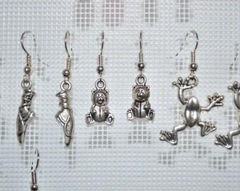 teddy bear / teddy bear earrings