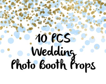 10PCS Just Married Fun Photo Booth Props, Party Props, Photo Booth Props, Party Supply, Party Decor, Photo props, Wedding Props, Wedding