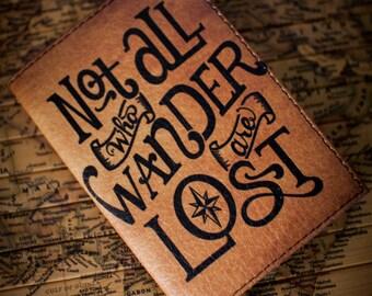 Passport wallet, Travel wallet, travel gift,  Leather passport wallet, Husband gift, Passport holder, Passport case, Wander lettering