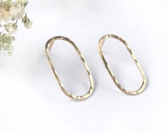 Oval Earrings, Stud Earrings, Geometric Earrings, Circle Earrings, Gold Hoop Earrings, Hoop Earrings, Silver Earrings, Rose Gold Earrings