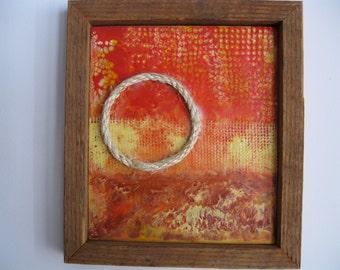 Original Mixed Media Encaustic Painting - Eternal