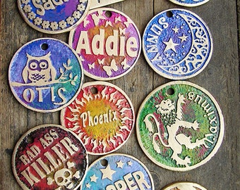 COLOR ADDITION Only to Etched Tag-Pet Tag Needs to Be Purchased Separately -- Dog Tag / Dog Id Tag / Pet ID Tag , Cat Tag , Colorful Dog Tag