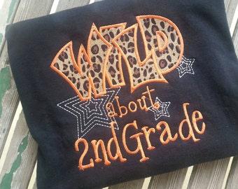 Wild about 2nd Grade shirt Wild about Second grade Teacher  Shirt