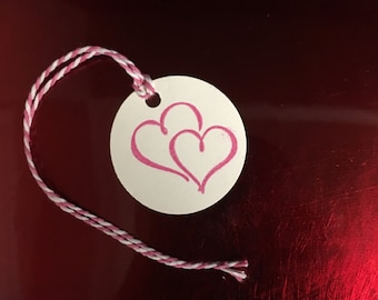 Double Hearts Tags