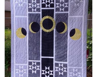 Eclipse Sky Quilt Pattern  by Joanne Kerton, Canuck Quilter Designs