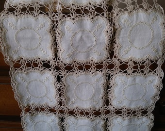 Crocheted linen Runner