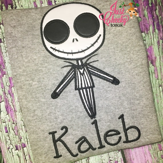 Jack Skellington - Pumkin King Embroidered Shirt - Nightmare Before Christmas - Horror Movie - Scary Movie
