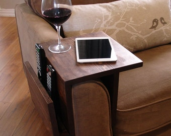 Simply Awesome Couch Sofa Arm Rest Wrap Tray Table with Side Storage Slot