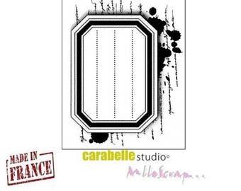 "Mini stamp ""label notebook"" Carabelle Studio made in France (ref.210) scrapbooking embellishment *."