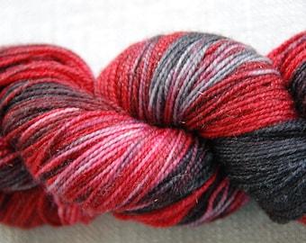 handdyed Yarn, 100g/ 3,5oz , colour Sweeney Todd