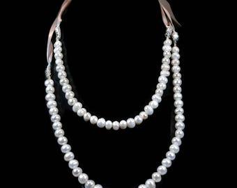 Pearl Necklaces For Mother And Daughter