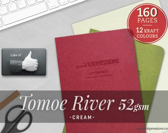 160 Pages- Tomoe River Cream Midori Inserts - Bullet journal - Notebooks and Planners - Scrapbooking - Fountain Pen - A5 Regulr Midori - B6