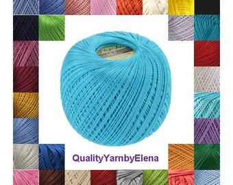 100% mercerized cotton yarn knitting crochet by Yarnart lily 50g 225m (246 yards)