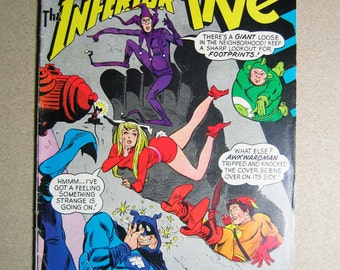 Old Comic Book, The Inferior Five #2, Vintage Comic, Collectible, 1960s, Super Heroes, DC Comics, National Comics, Comic Book, Geekery, Cool