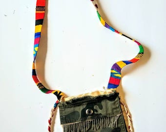 Funky across the body purse. One of a kind.