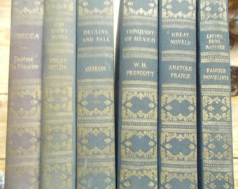6 Vintage books from The Book League of America..a varietyand  they are in fine condition!