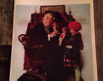 Norman Rockwell, A Sixty Year Retrospective, 1972, Vintage, Book, Art Book