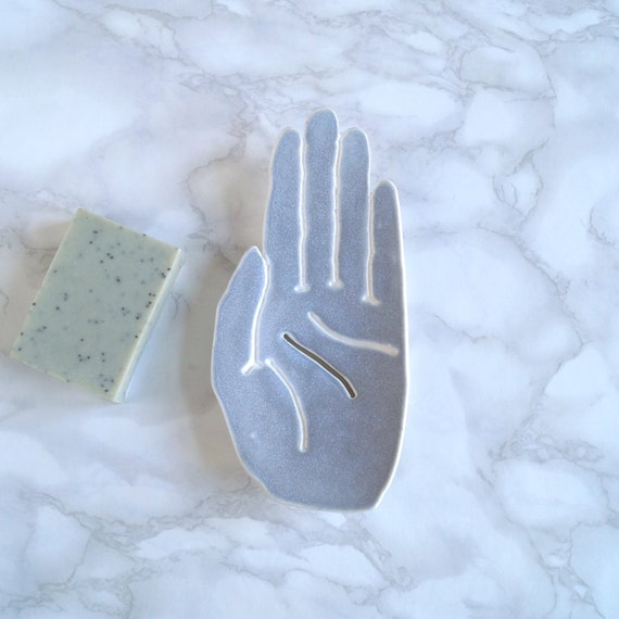 PALM soap dish, grey
