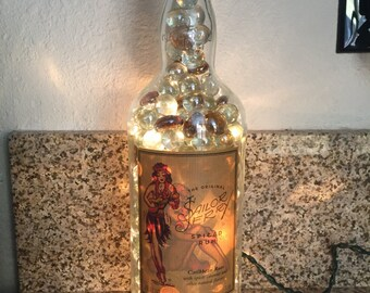 Lighted Sailor Jerry Rum Bottle