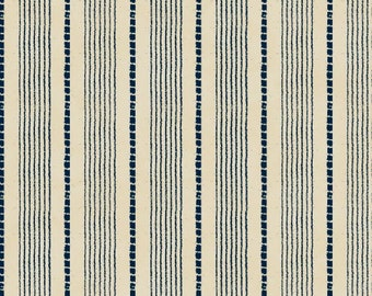 Windham Basics - Blue & Cream Shirting Stripe Fabric