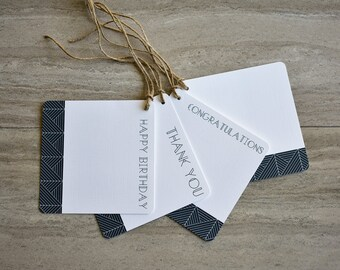 Art Deco Modern Gift Tags | Set of 20 + Twine | READY TO SHIP | Hang Tag | Swing Tag | Favor Tag | Wine Tag | Party Gift Tag | Gift Wrapping
