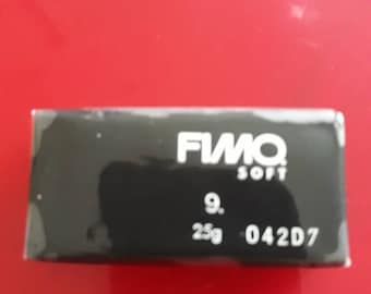 1 semi bread fimo soft black number 9 and easy to work after opening close packaging with care