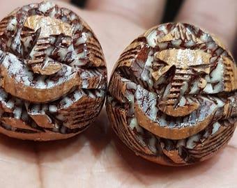 Carved Supaari Ganpati / Supari Ganesha / Betel Nut Ganesh