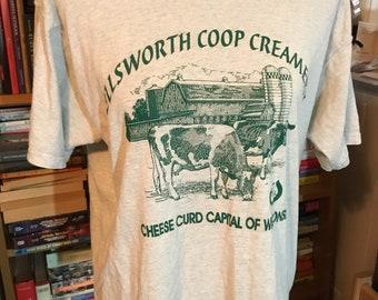 Vintage Ellsworth Wisconsin Co-op Creamery T-Shirt