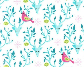 Festive Forest Collection by Tamara Kate FESTIVAL NEST from Michal Miller Fabrics, yard