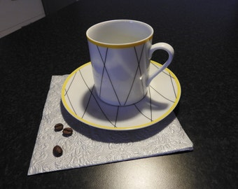 Gustavsberg, Sweden GRID YELLOW, coffee cup and saucer