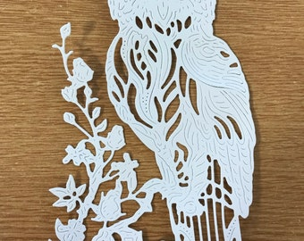Tattered lace owl lucky charm die cuts x 2
