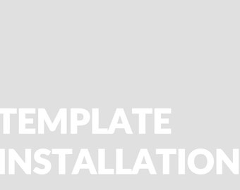 Template Installation for Blogger.